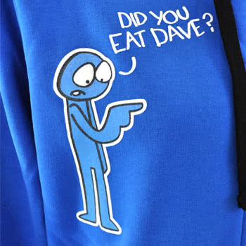 Flip Flop And Fangs Dave Hoodie (Blue)