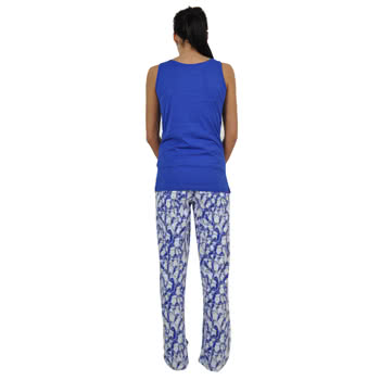 Flip Flop And Fangs Penguins Long Set Pyjamas (Blue)