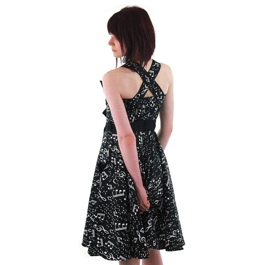 Hell Bunny Bebop Dress (Black/White)