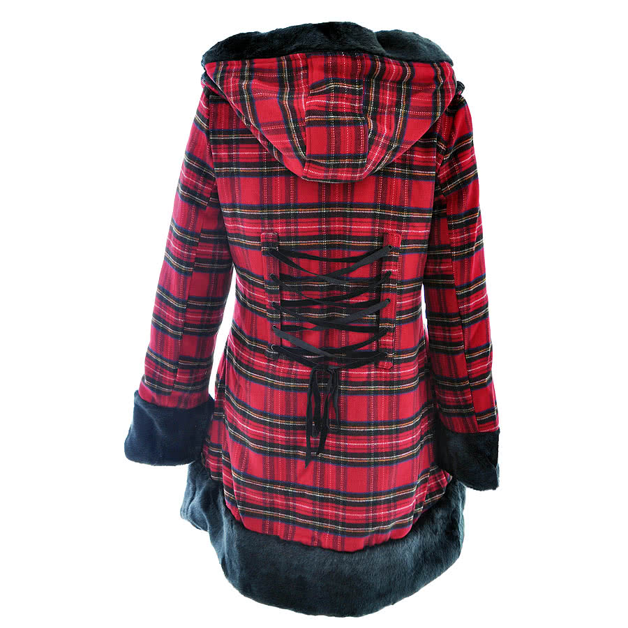 Hell Bunny Fiona Jane Coat (Red/Tartan)