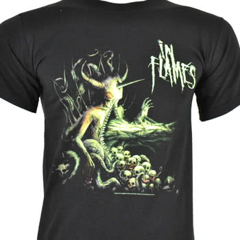 In Flames Demon T Shirt (Black)