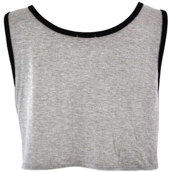 Insanity Stars & Stripes Crop Top (Grey)