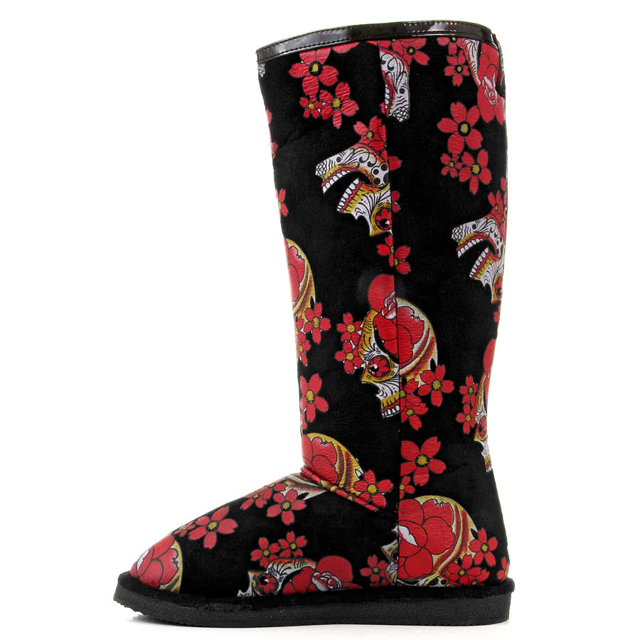 Iron Fist Siesta Skull Boots (Black)