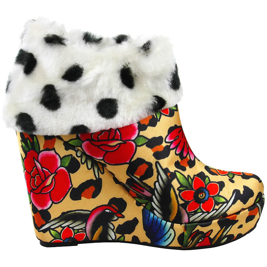 Iron Fist Lounge Days Wedge Boots (Multi-Coloured)