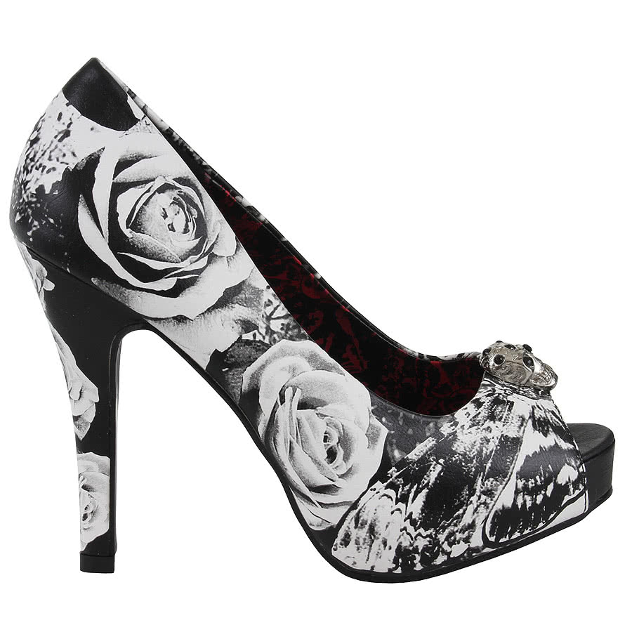 Iron Fist OMG Platform Shoes (Black/White)
