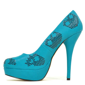 Iron Fist Sugar Hiccup Platform Shoes (Teal)