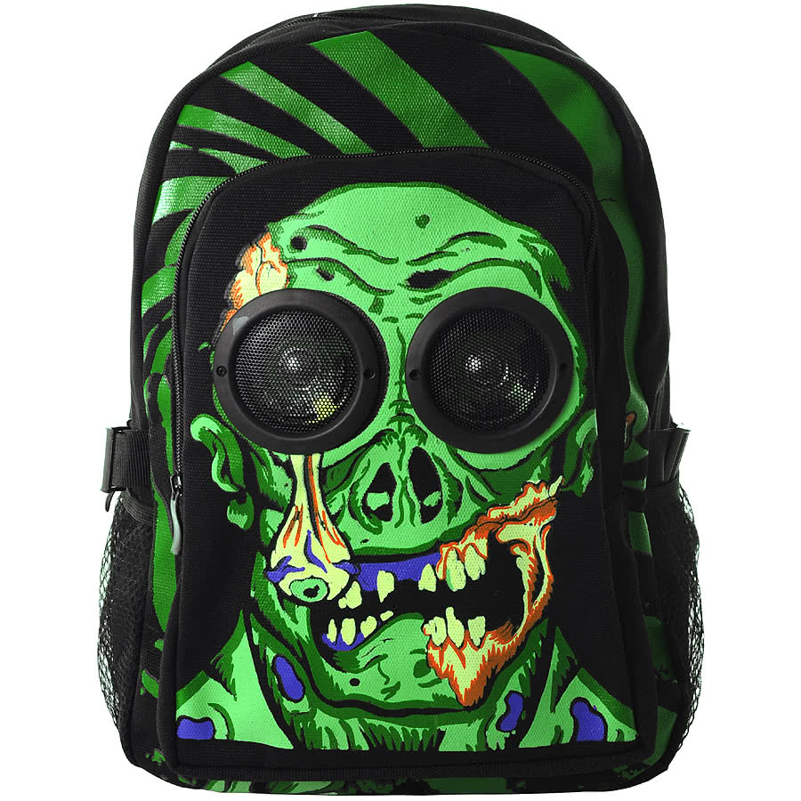 Jawbreaker Zombie Speaker Backpack (Black/Green)