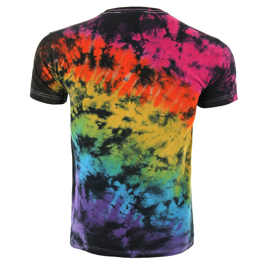 Kill Star Baphomet Tie Dye T Shirt (Multi-Coloured)