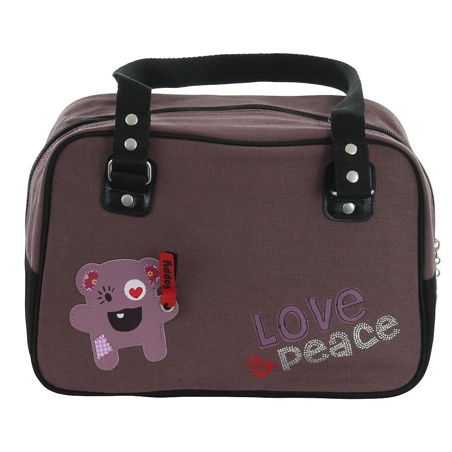 Love & Peace Happy Handbag (Brown)