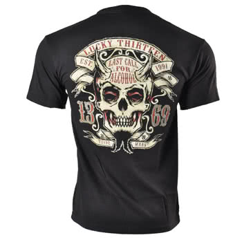 Lucky 13 Twin Forks T Shirt (Black)