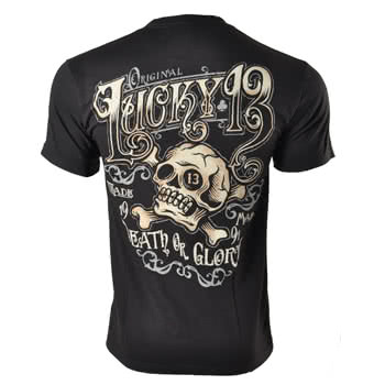 Lucky 13 Ye Olde 13 T Shirt (Black)