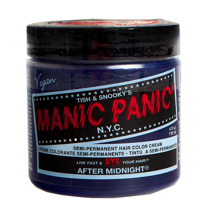 Manic Panic After Midnight Blue On Brown Hair New Style