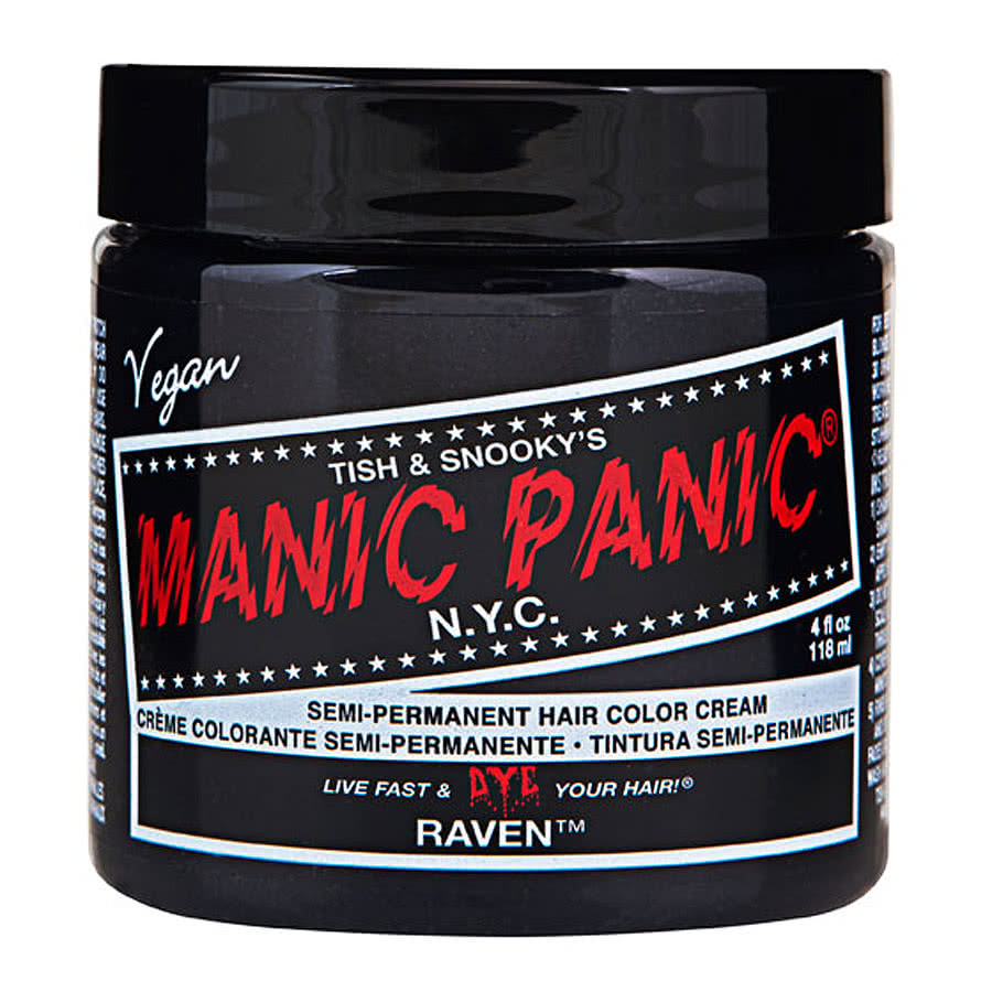 Manic Panic Classic Semi-Permanent Hair Dye 118ml (Raven)
