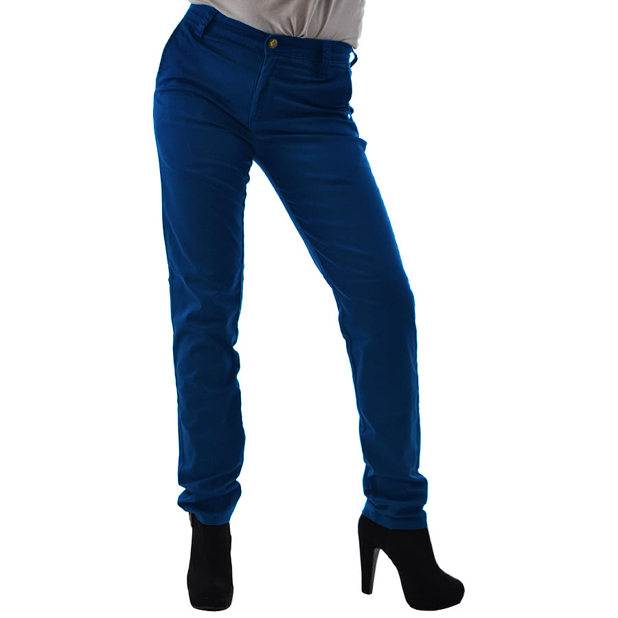 Monkee Genes High Waist Chinos (Blue)