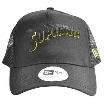 DC Comics New Era Superman Overflocked Cap (Black)