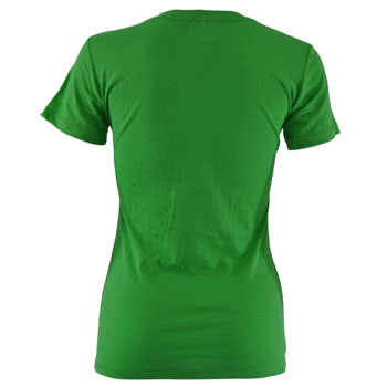 Newbreed Girl Happy Mushrooms Skinny Fit T Shirt (Green)