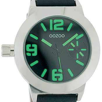 Oozoo Watch Style C3724 (Black/Green)