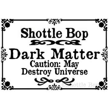 Shottle Bop Dark Matter Bottle Necklace (Black)