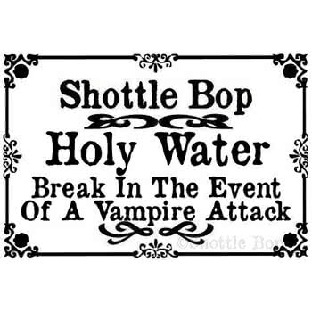 Shottle Bop Holy Water Bottle Necklace (Clear)