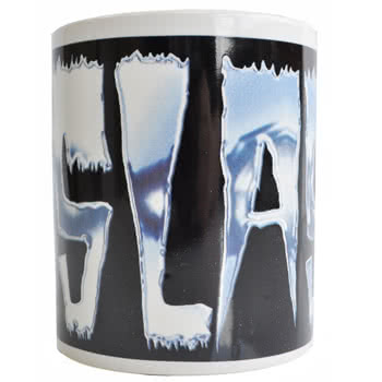 Slash Logo Print Mug (White/Black)