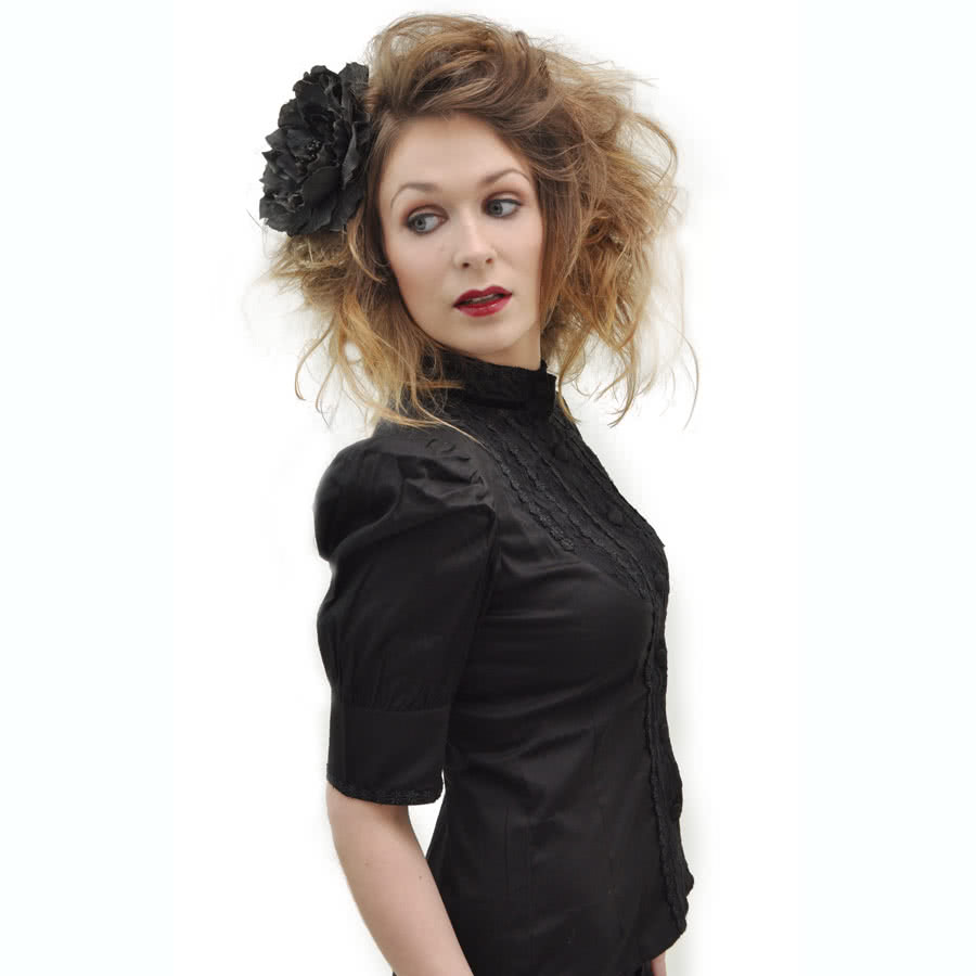 Spin Doctor by Hell Bunny Bridget Shirt (Black)