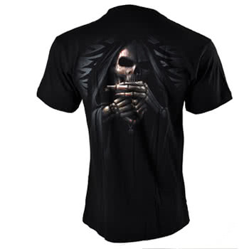 Spiral Direct Bone Finger T Shirt (Black)