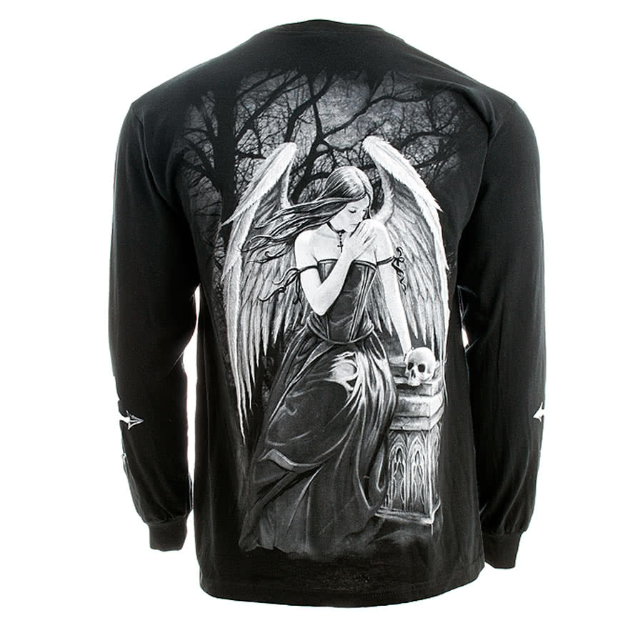 Spiral Direct Goth Prayer Long Sleeved Top (Black)