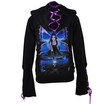 Spiral Direct Immortal Flight Skinny Fit Hoodie (Black)