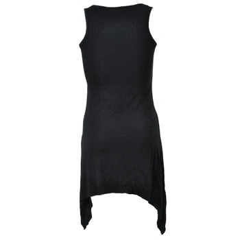 Spiral Direct Vampire Fangs Vest Top (Black)