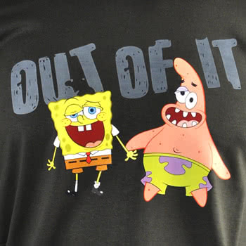 SpongeBob SquarePants Out Of It T Shirt (Grey)