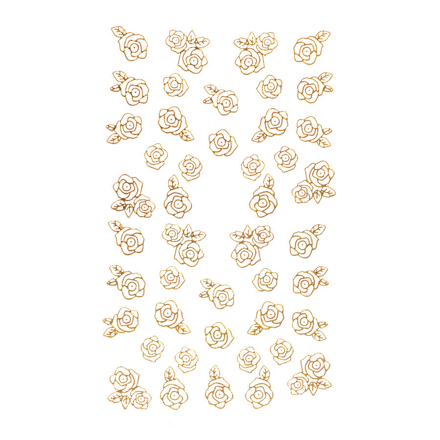 Nail Art Sheets XB-78 Large Rose (Gold)