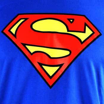 DC Comics Superman Emblem T Shirt (Blue)