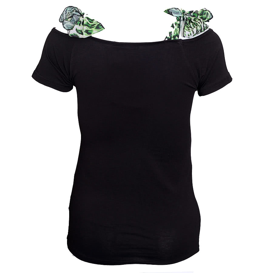 Too Fast Annabel Glamour Ghoul Top (Black)
