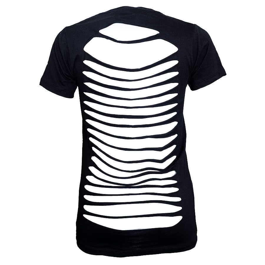 Too Fast Seal Badge Skinny Fit T Shirt (Black)