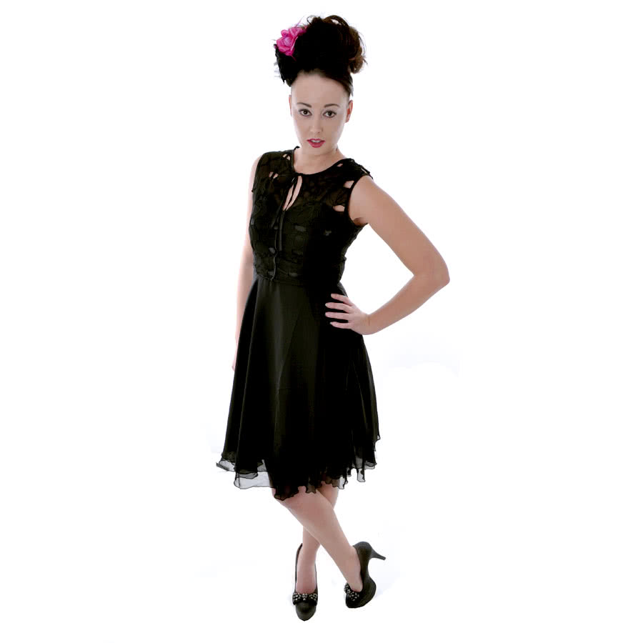 Voodoo Vixen Lace Dress (Black)