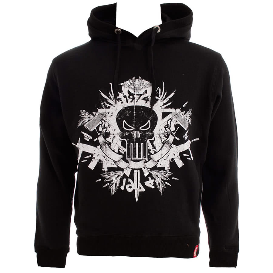 Marvel Comics Extreme Punisher Skull Hoodie (Black)