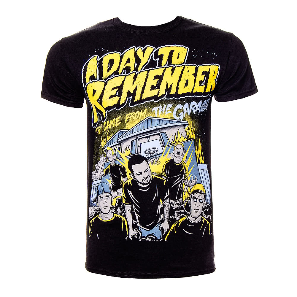 a day to remember garage t shirt adtr tees official band merch. Black Bedroom Furniture Sets. Home Design Ideas