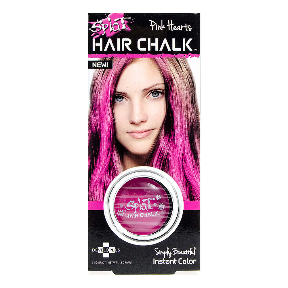 Splat Pink Hearts Hair Chalk Temporary Hair Colour Uk