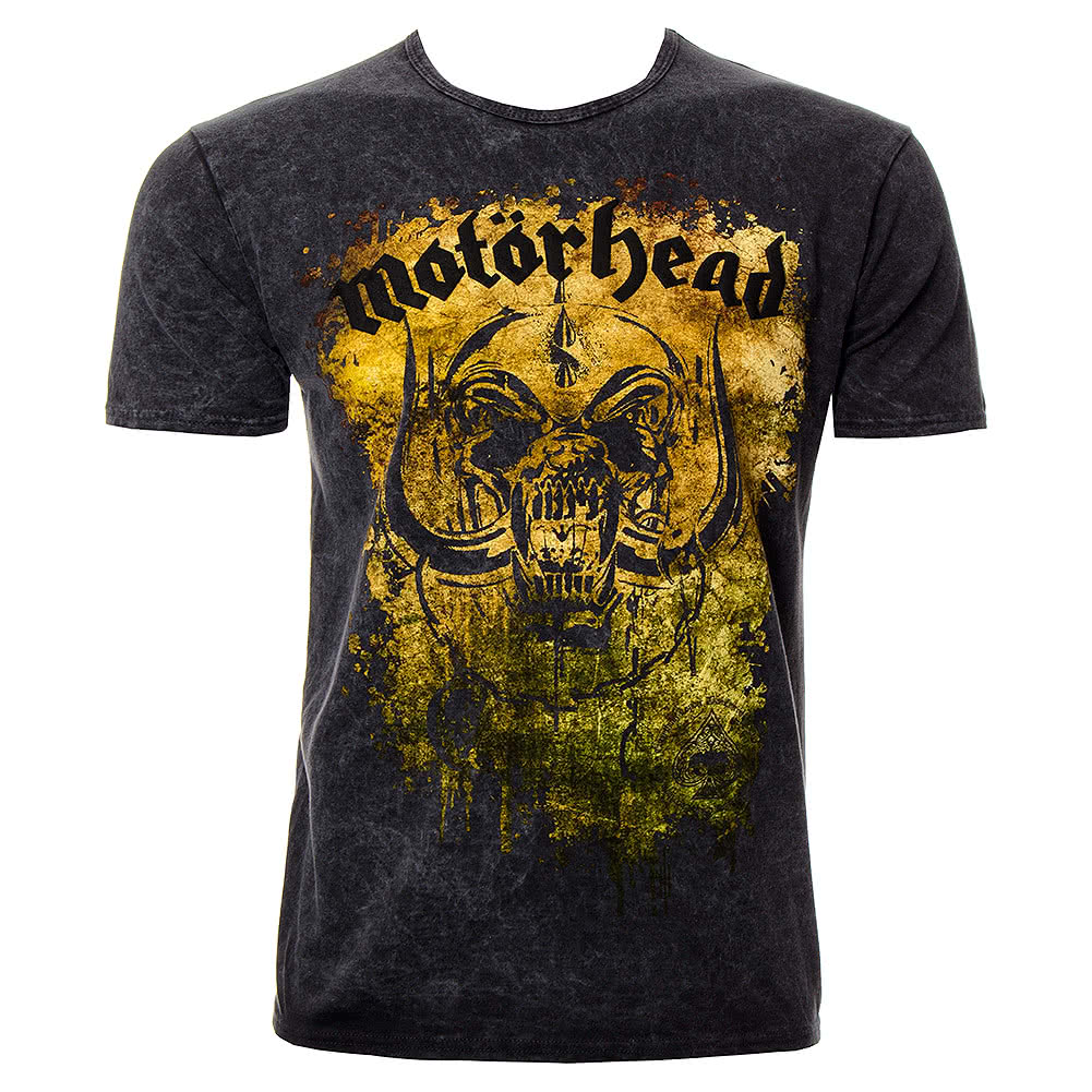 motorhead acid splatter premium t shirt official band tee. Black Bedroom Furniture Sets. Home Design Ideas