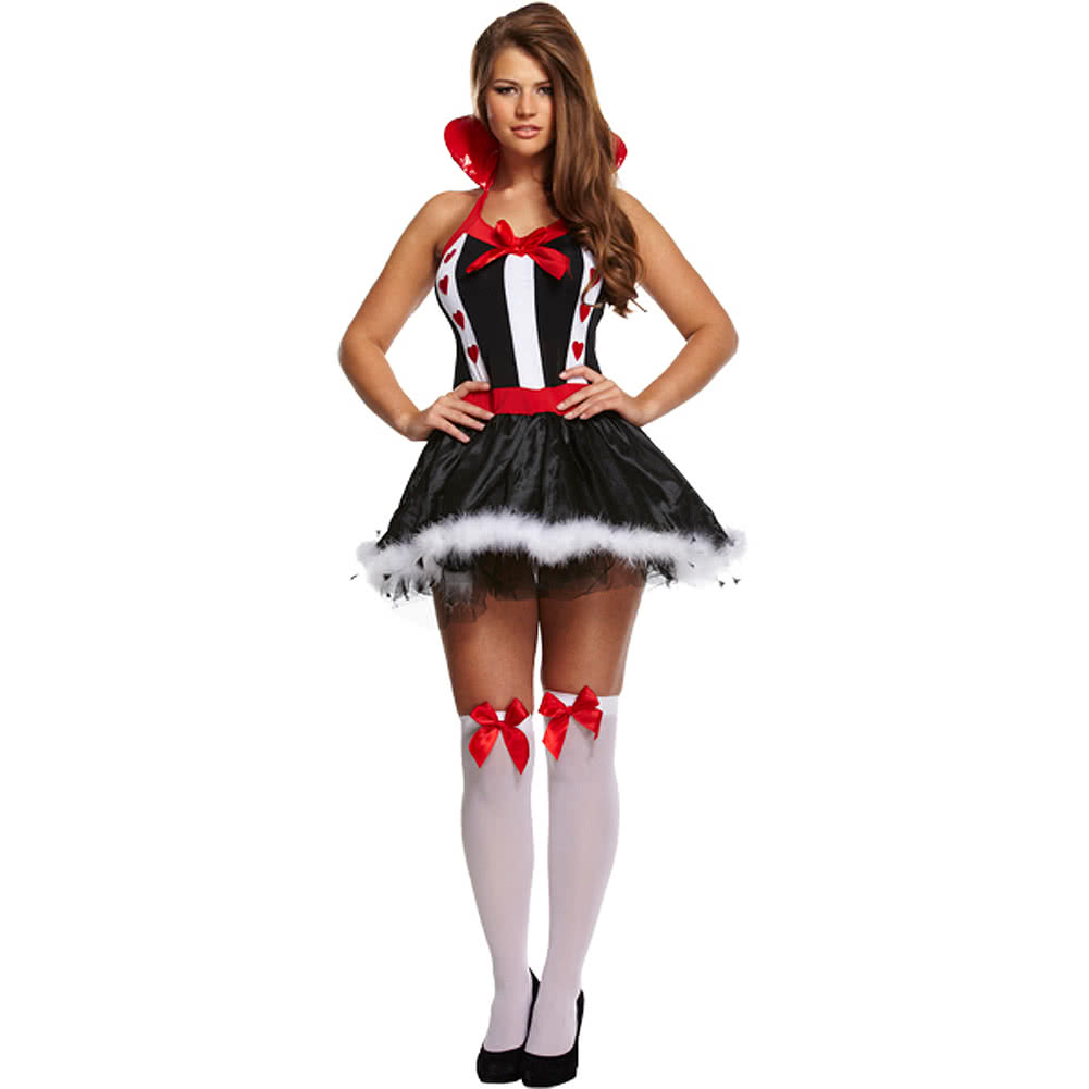 Queen Of Hearts Fancy Dress Costume (BlackWhiteRed)