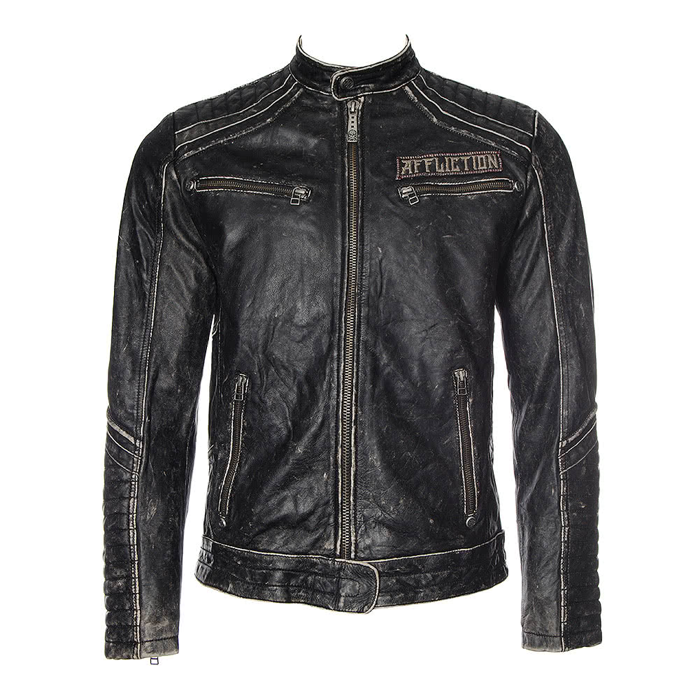 Affliction American Custom Renegade Rider Leather Jacket (Black)