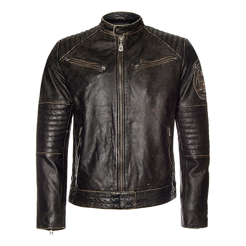 Affliction American Custom Ghost Rider Leather Jacket (Black)