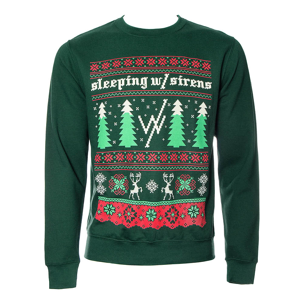 Sleeping With Sirens Official Christmas Jumper (Green)