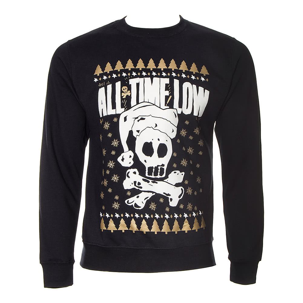 All Time Low Skull Christmas Jumper (Black)