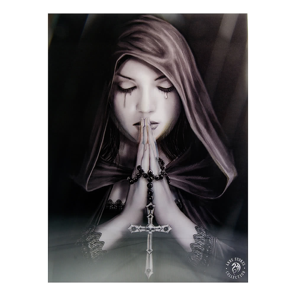 Anne Stokes Gothic Prayer 3d Print Gothic Home Decor
