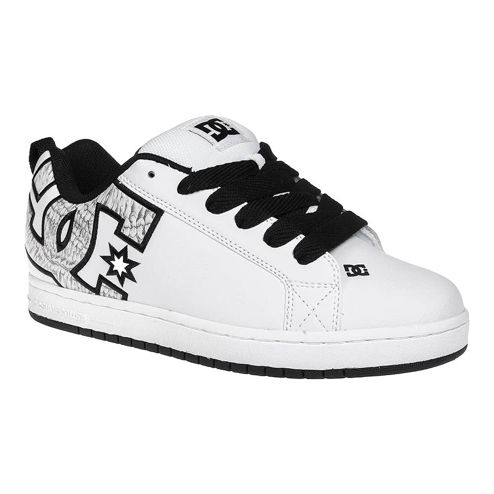 dc shoes white graffik court trainers dc skate footwear uk