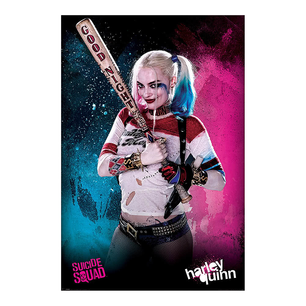 Suicide Squad Harley Quinn Poster, Official Movie Merch UK