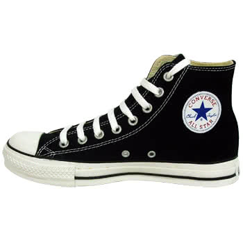 Blue Banana  Converse All Stars Classic High Top Boots (Black/White)