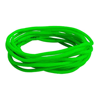 Pack of 12 Neon Gummy Bracelets (Green)