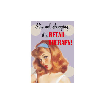 Its Not Shopping Its Retail Therapy Novelty Card (Purple)